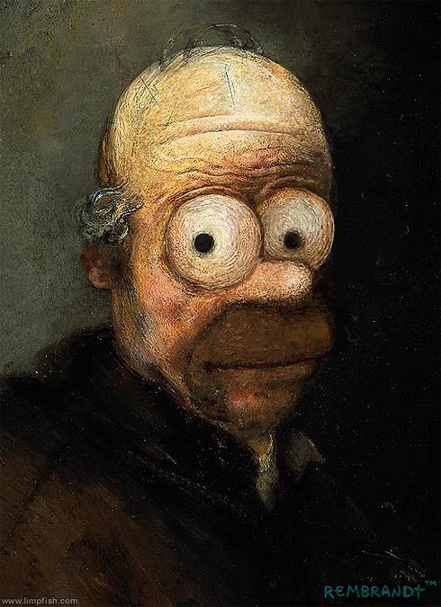 Homero por Rembrandt